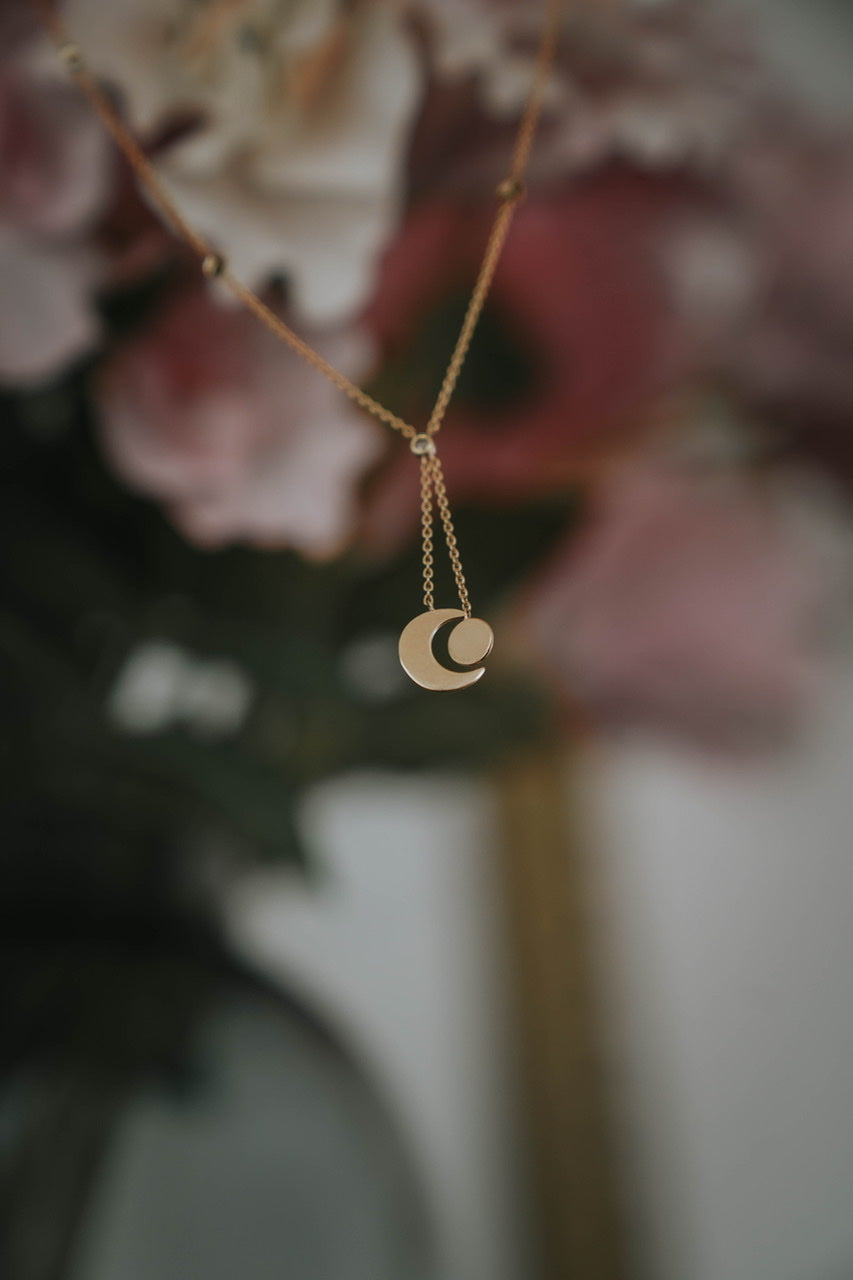 Collier Eclipse Or massif 750/00 & Diamants