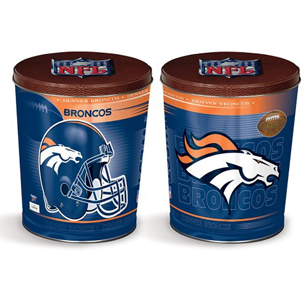 Denver Broncos Tin Joe Brown's Carmel Corn