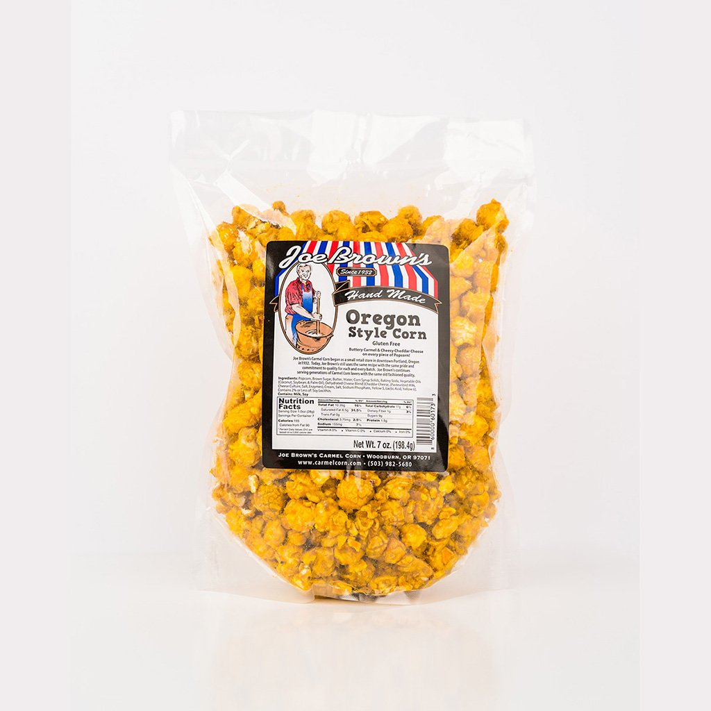 Oregon Style Corn Popcorn Joe Brown's Carmel Corn