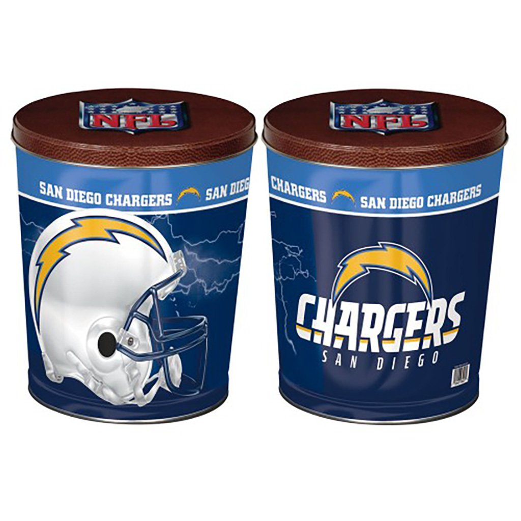 San Diego Chargers Tin Joe Brown's Carmel Corn