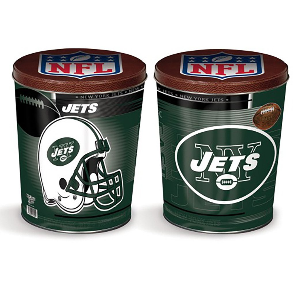 New York Jets Tin Joe Brown's Carmel Corn