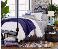 Load image into Gallery viewer, Indigo Quilt Set with Hand Stitching