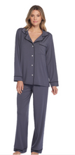 Load image into Gallery viewer, Barefoot Dreams Luxe Milk Jersey Pajamas Graphite/Black