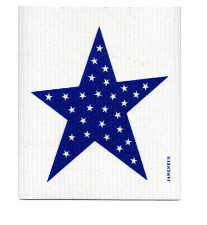Swedish Dish Cloth Blue Star