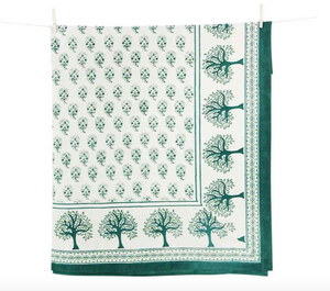 Paisley Green Table Linen Collection