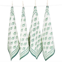 Load image into Gallery viewer, Paisley Green Table Linen Collection