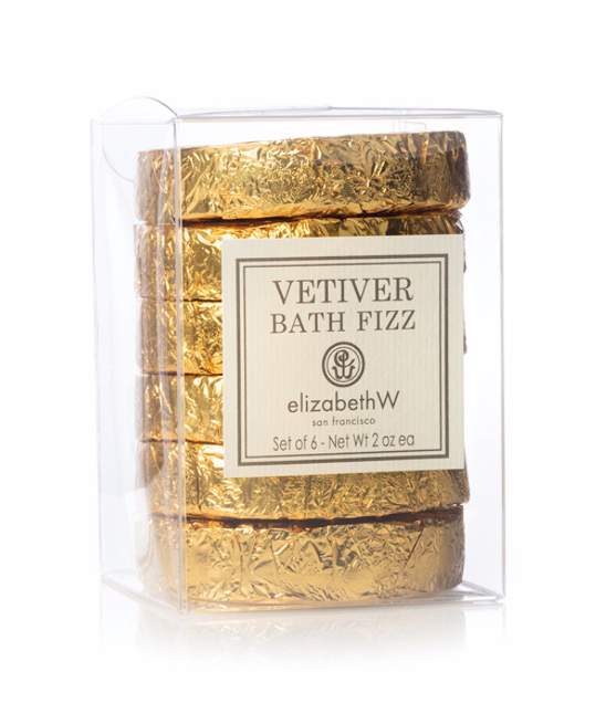 Vetiver Bath Fizz set of six tablets