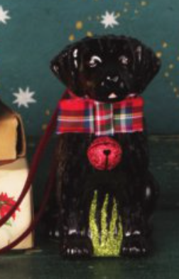 Festive Black Lab Ornament