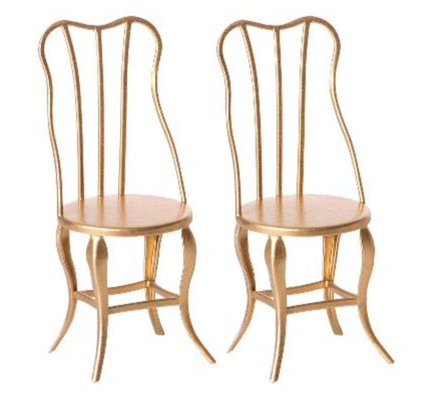 Maileg Gold Vintage Chairs (Pack of 2)