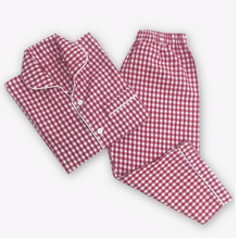 Load image into Gallery viewer, Red Gingham PJ's and Handmade Lavender Sachet