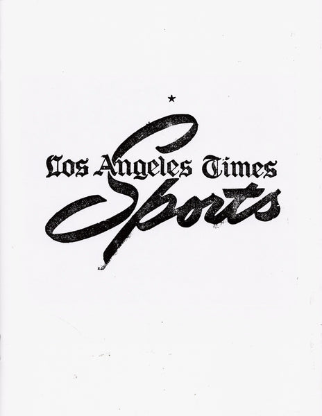 Laura Owens: Untitled Zine (Los Angeles Times Sports)