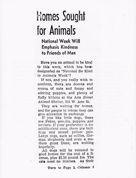 Laura Owens: Untitled Zine (Homes Sought for Animals)