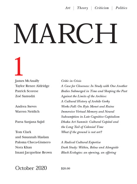 MARCH: a journal of art & strategy, Issue 1