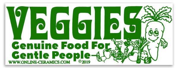 Veggies Bumper Sticker