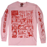 Wacky Wacko: Grrrls 2.0 Long Sleeve Tee, Pink/Red