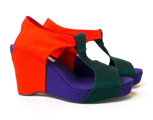 Slow and Steady Wins the Race: Tri-Color Wedge Sandal