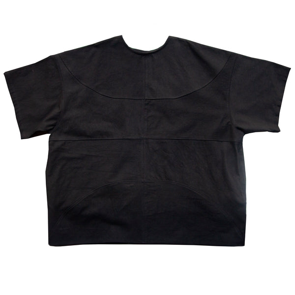 69: Basketball Shirt, Black Linen