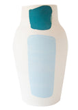 Cassie Griffin: Ceramic Vase, Light Blue with Orange and Teal