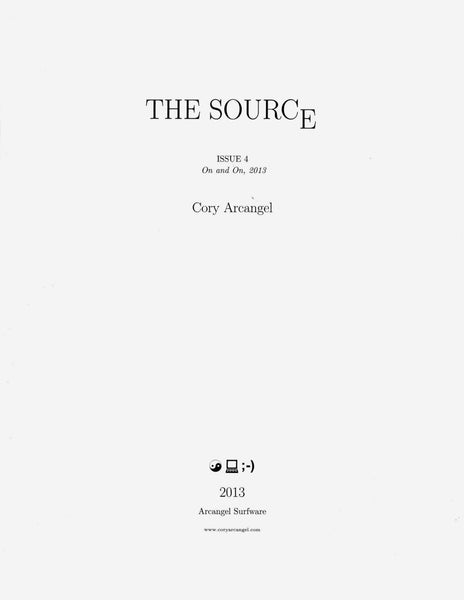 Cory Arcangel: The Source Issue #4 On and On