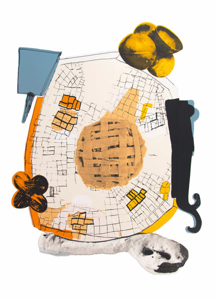 Jessica Jackson Hutchins: Peach Pie and Steel Balls Print
