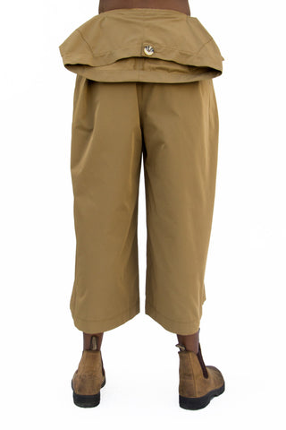 Nancy Stella Soto: Khaki Poly Gabardine Trousers