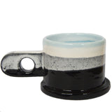 Peter Shire: Medium Mug, Black with White & Light Blue