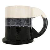 Peter Shire: Large Mug, Cream with Black