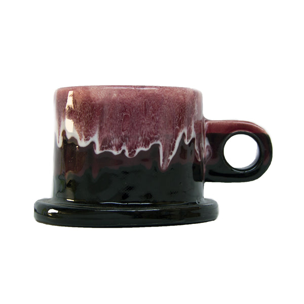 Echo Park Pottery with Peter Shire: Medium Mug, Red with Black