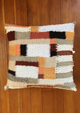Run Home: Graphic Woven Pillow
