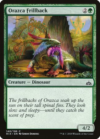 Orazca Frillback [Rivals of Ixalan] | The Guild in the Grove