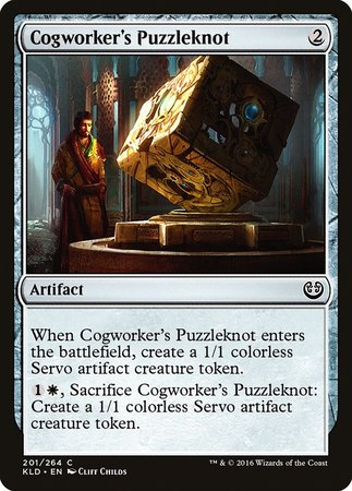 Cogworker's Puzzleknot [Kaladesh] | The Guild in the Grove