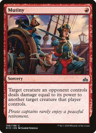 Mutiny [Rivals of Ixalan] | The Guild in the Grove