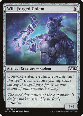 Will-Forged Golem [Magic 2015] | The Guild in the Grove