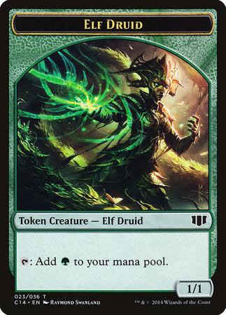 Elf Druid // Beast (4/4) Double-sided Token [Commander 2014 Tokens] | The Guild in the Grove