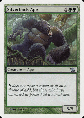 Silverback Ape [Eighth Edition] | The Guild in the Grove