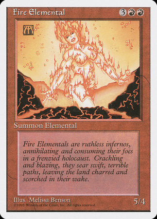 Fire Elemental [Fourth Edition] | The Guild in the Grove