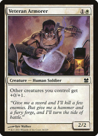 Veteran Armorer [Modern Masters] | The Guild in the Grove
