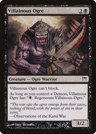 Villainous Ogre [Champions of Kamigawa] | The Guild in the Grove