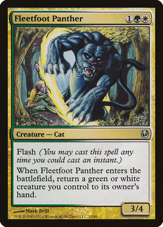 Fleetfoot Panther [Duel Decks: Ajani vs. Nicol Bolas] | The Guild in the Grove