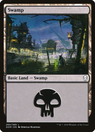 Swamp (260) [Dominaria] | The Guild in the Grove