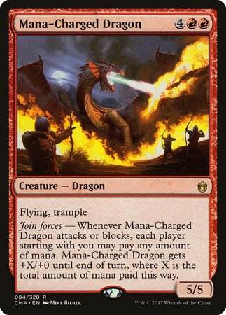 Mana-Charged Dragon [Commander Anthology] | The Guild in the Grove