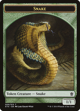 Snake Token [Khans of Tarkir Tokens] | The Guild in the Grove