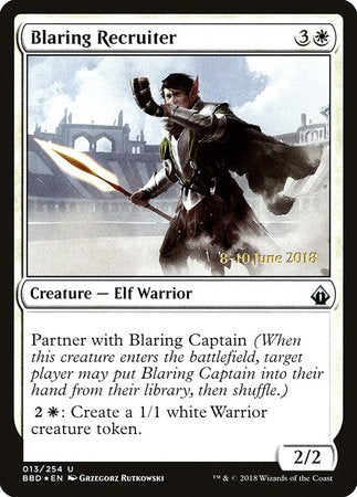 Blaring Recruiter [Battlebond Promos] | The Guild in the Grove