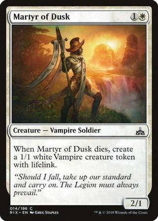 Martyr of Dusk [Rivals of Ixalan] | The Guild in the Grove