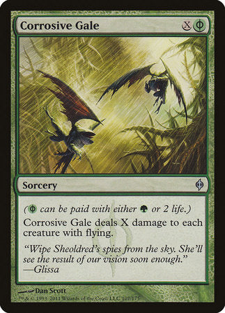 Corrosive Gale [New Phyrexia] | The Guild in the Grove
