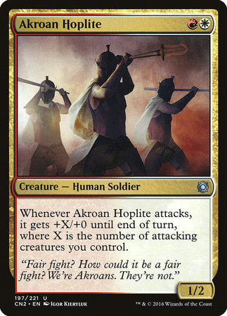 Akroan Hoplite [Conspiracy: Take the Crown] | The Guild in the Grove