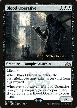 Blood Operative [Guilds of Ravnica Promos] | The Guild in the Grove
