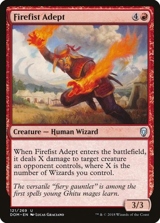Firefist Adept [Dominaria] | The Guild in the Grove