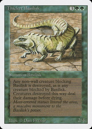 Thicket Basilisk [Revised Edition] | The Guild in the Grove