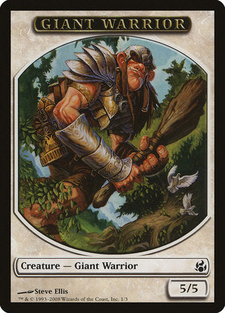Giant Warrior Token [Morningtide Tokens] | The Guild in the Grove